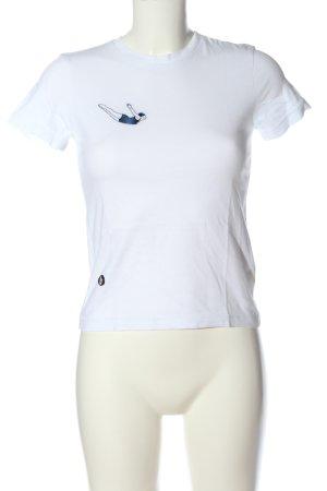 brava FABRICS T-shirt wit prints met een thema casual uitstraling