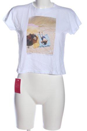 brava FABRICS T-shirt bianco Stampa a tema stile casual