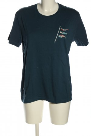 brava FABRICS T-shirt blu Stampa a tema stile casual