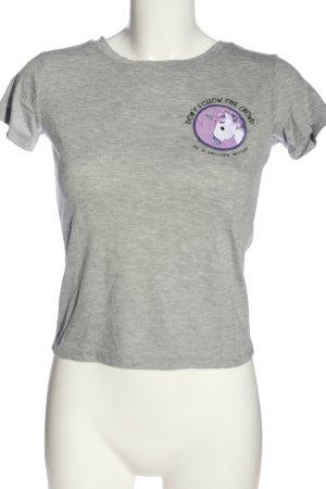 Bravado T-shirt gris clair moucheté style décontracté