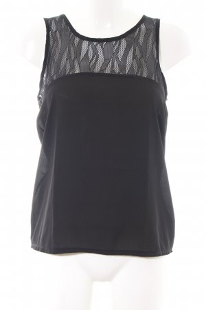 Brave Soul ärmellose Bluse schwarz Elegant