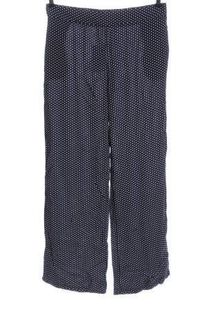 Brave Soul Baggy broek blauw-wit volledige print casual uitstraling
