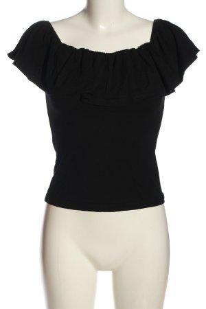 Brave Soul Top épaules dénudées noir style décontracté