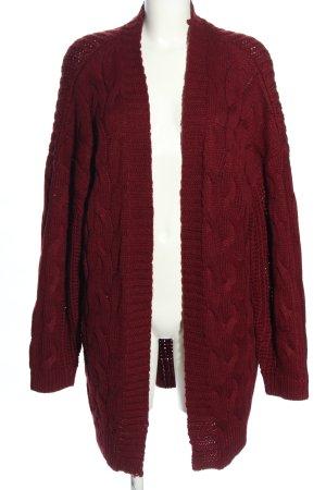 Brave Soul Veste tricotée en grosses mailles rouge acrylique