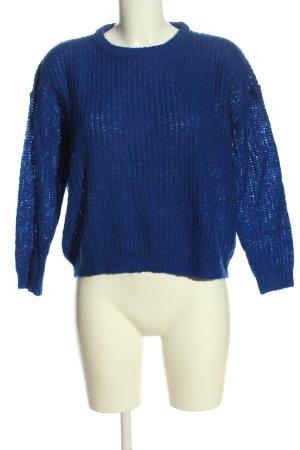 Brave Soul Pull en crochet bleu style décontracté