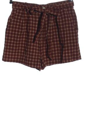 Brave Soul High-Waist-Shorts braun Allover-Druck Casual-Look