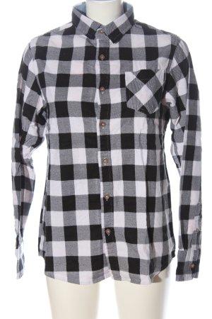 Brave Soul Lumberjack Shirt black-white allover print casual look