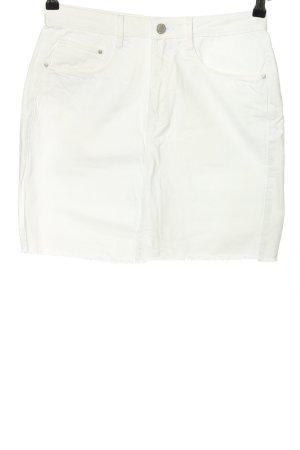 Brave Soul Gonna di jeans bianco stile casual