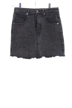 Brave Soul Jeansowa spódnica czarny W stylu casual