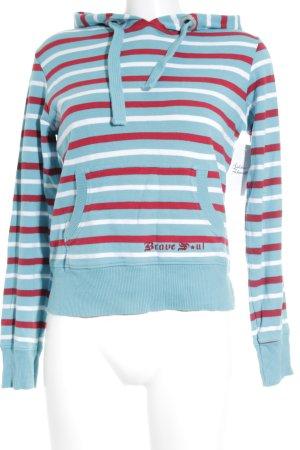 Brave Soul Kapuzensweatshirt Streifenmuster Casual-Look