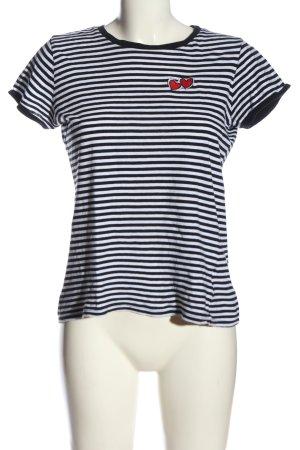 Brave Soul T-Shirt schwarz-weiß Allover-Druck Casual-Look