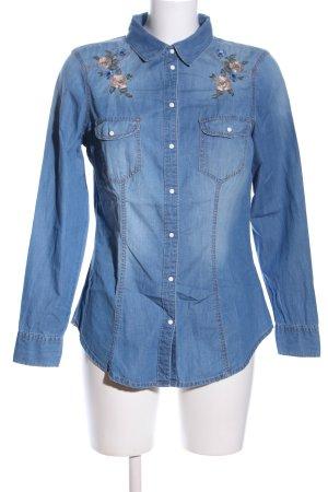 Brave Soul Langarmhemd blau Casual-Look