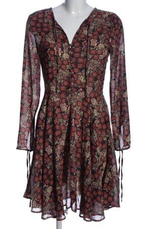 Brave Soul Sukienka z długim rękawem Na całej powierzchni Elegancki