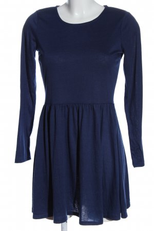 Brave Soul Langarmkleid blau Casual-Look