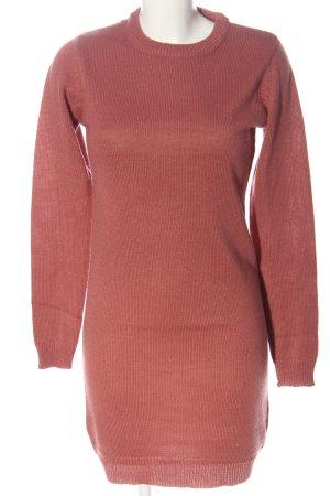 Brave Soul Robe à manches longues rose torsades style décontracté