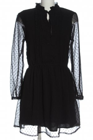 Brave Soul Langarmkleid schwarz Elegant