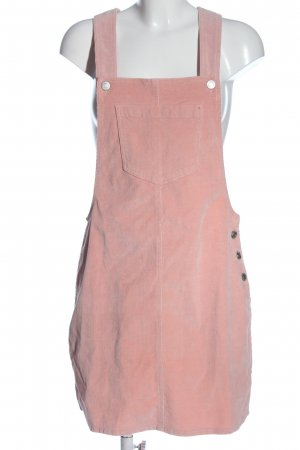 Brave Soul Pinafore Overall Skirt pink casual look