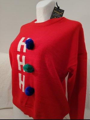 Brave Soul Pullover Weihnachten rot neu M