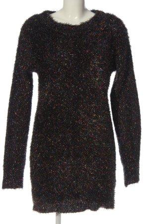 Brave Soul Robe pull noir moucheté style décontracté