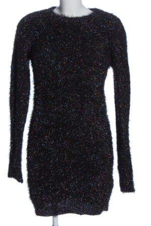 Brave Soul Pulloverkleid mehrfarbig Glitzer-Optik