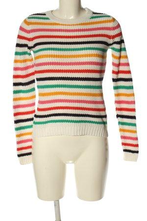 Brave Soul Sweter z okrągłym dekoltem Wzór w paski W stylu casual