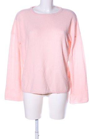 Brave Soul Rundhalspullover pink Business-Look