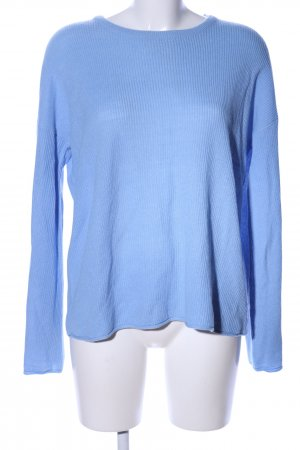 Brave Soul Rundhalspullover blau Casual-Look