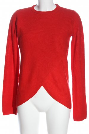 Brave Soul Rundhalspullover rot Casual-Look