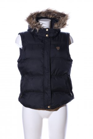 Brave Soul Quilted Gilet black quilting pattern casual look