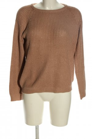 Brave Soul Strickpullover braun Zopfmuster Casual-Look