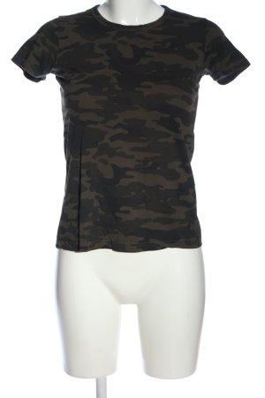 Brave Soul T-shirt cachi-nero Motivo mimetico stile casual
