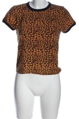 Brave Soul T-shirt brun-noir imprimé allover style décontracté