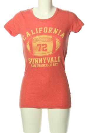 Brave Soul T-shirt rood-sleutelbloem gestippeld casual uitstraling