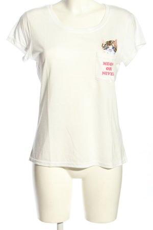 Brave Soul T-Shirt weiß-pink Motivdruck Casual-Look
