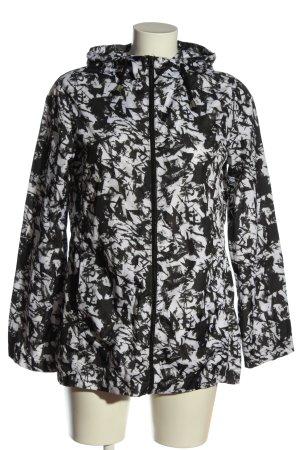 Brave Soul Übergangsjacke schwarz-weiß abstraktes Muster Casual-Look