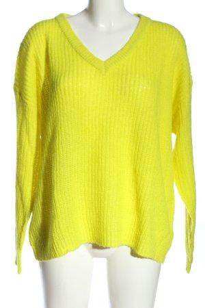 Brave Soul V-Ausschnitt-Pullover blassgelb Casual-Look