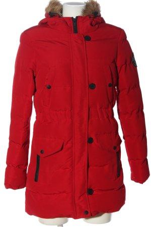 Brave Soul Winterjack rood quilten patroon casual uitstraling