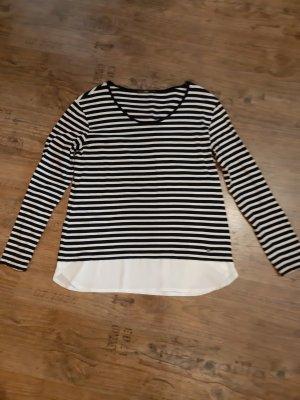 Brax Koszulka w paski biały-ciemnoniebieski