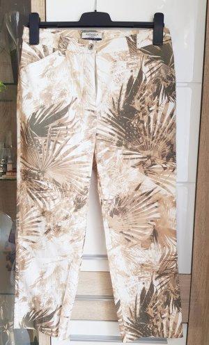 Brax Pantalone a 3/4 beige-grigio-verde