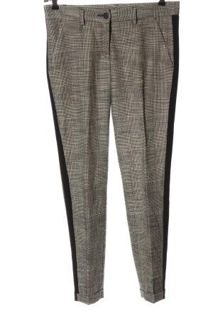 Brax 7/8 Length Trousers light grey-black allover print elegant