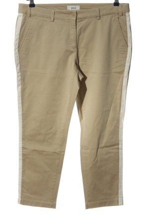 Brax Pantalone a 7/8 crema motivo a righe stile casual