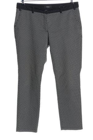 Brax 7/8-Hose schwarz-weiß abstraktes Muster Casual-Look