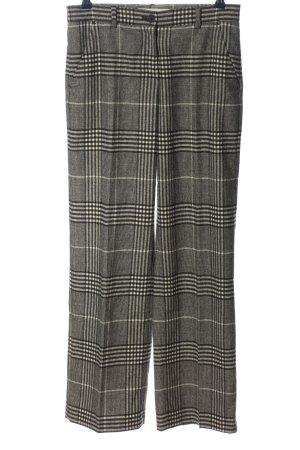 Brax Luźne spodnie czarny-w kolorze białej wełny Wzór w kratkę