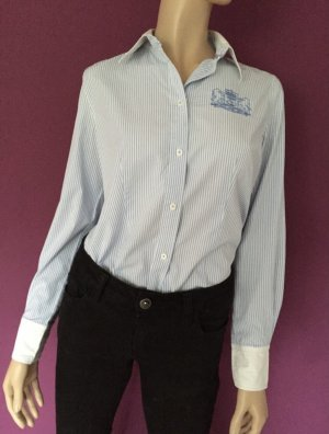 Brax Bluzka z długim rękawem biały-błękitny