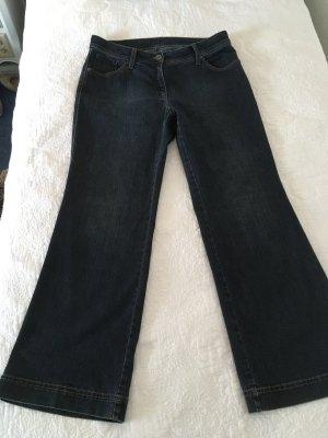 Brax Jeansy z wysokim stanem stalowy niebieski Bawełna