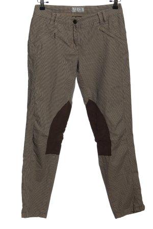 Brax Pantalone a pieghe marrone stampa integrale stile casual