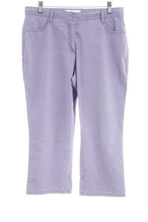 Brax Pantalón capri púrpura estilo extravagante
