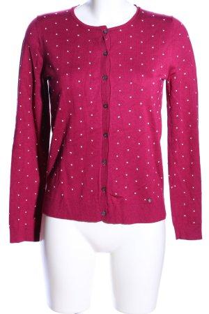 Brax Cardigan pink-weiß Punktemuster Casual-Look