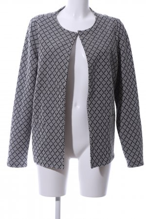 Brax Cardigan weiß-schwarz Allover-Druck Casual-Look