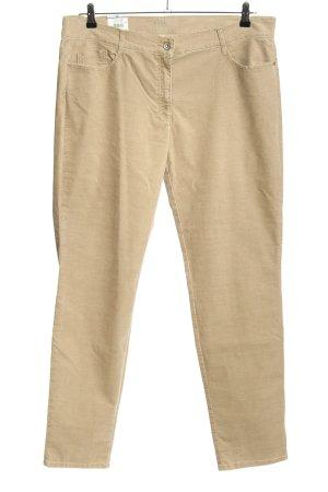 Brax Pantalone di velluto a coste crema stile casual